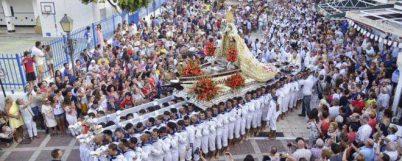 Hoy es el día grande de las fiestas de la Virgen del Carmen de La Carihuela