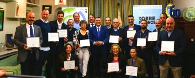 Entrega de distinciones a las empresas participantes en el Stand CET Fitur 2020